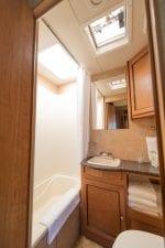 Holiday Traveler trailer bathroom