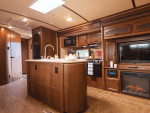 Interior of an RV rental trailer