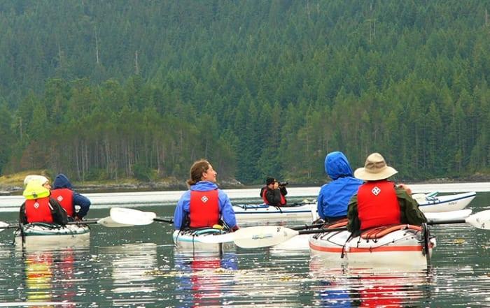 Kayaks paddlers enjoying Pacific Playgrounds